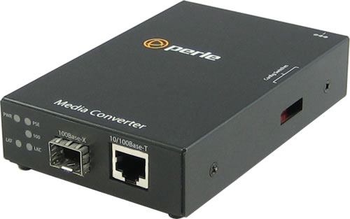 S-110P-SFP - 10/100 Fast Ethernet Standalone Media Rate Converter with PoE Power Sourcing